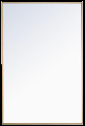Elegant Lighting Eternity 28″ x 42″ Rectangular Beveled Metal Framed Bathroom Mirror