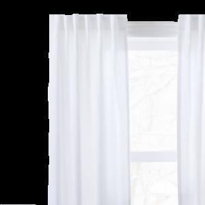 West Elm European Flax Linen Curtain – White
