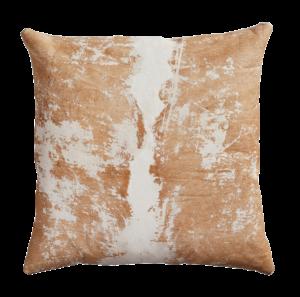 20″ Vintaged Light Hide Pillow | CB2