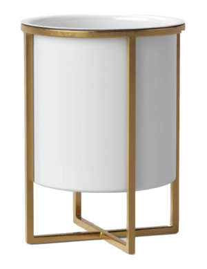 Target Iron Planter With Brass Stand White – Project 62™