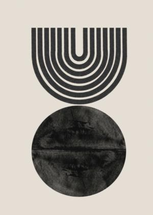 Etsy Mid Century Wall Art, Modern Minimalist, Geometric Design, Digital Download, Woodblock Print, Art…