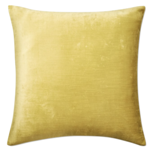Williams Sonoma Solid Velvet Pillow Cover, 22″ x 22″, Chartreuse