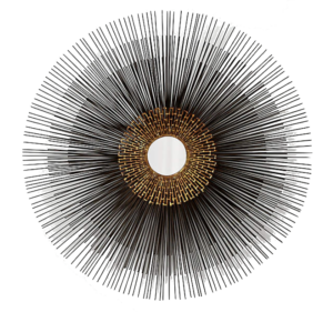 Starburst Round Wall Mirror + Reviews | Crate and Barrel