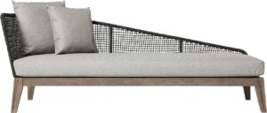 Bellacor Netta Feather Gray Fabric Outdoor Right Chaise