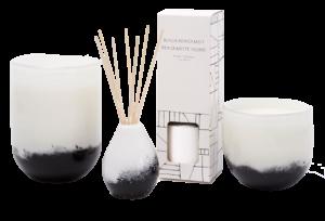 West Elm Black & White Speckled Glass Homescent Collection – Black Bergamot