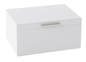 West Elm Mid-Century Jewelry Box – Large (White Lacquer)