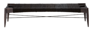 CB2 Wrap Large Black Bench